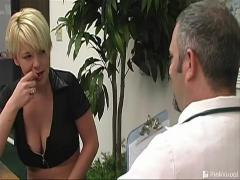 Tiny boobed slut with pierced belly Amber Rayne gets skinny snatch humped and mouth cum filled by a