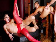 Latex, feet, strap-on and 3 people to fuck for Brianna Love!