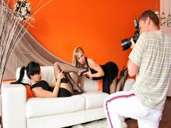 Backstage foot fetish scene with Silvia Saint &Stacy Dasilva