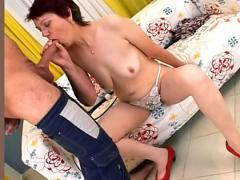 Sexy sick granny has her young doctor creampie her old pussy