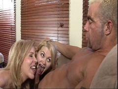 Nasty Mom Shows Her Daughter How To Suck A Big Cock